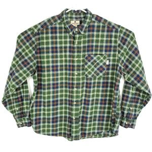 Plaid Check Long Sleeve Button Front Flannel Shirt